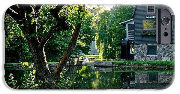 Grist Mill iPhone Cases - Peterson Mill in Saugatuck Michigan iPhone Case by Julie Ketchman