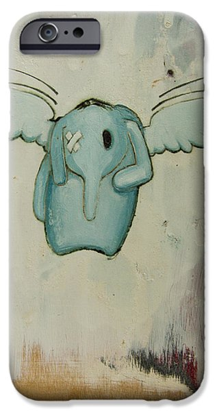 pete's angel iPhone Case by Konrad Geel