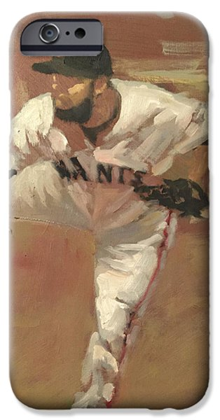 Baseball Art Paintings iPhone Cases - Petit Delivery iPhone Case by Darren Kerr