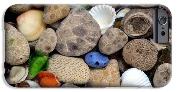 Michelle Calkins iPhone Cases - Petoskey Stones lll iPhone Case by Michelle Calkins