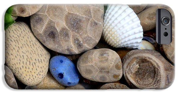 Chicago iPhone Cases - Petoskey Stones V iPhone Case by Michelle Calkins