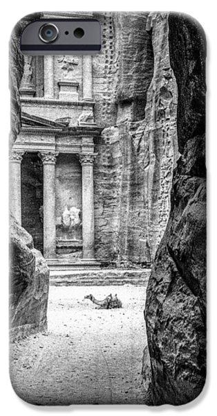 Jordan iPhone Cases - Petra Camel iPhone Case by Paul Haist