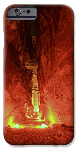 Jordan iPhone Cases - Petra Night Journey iPhone Case by Stephen Stookey