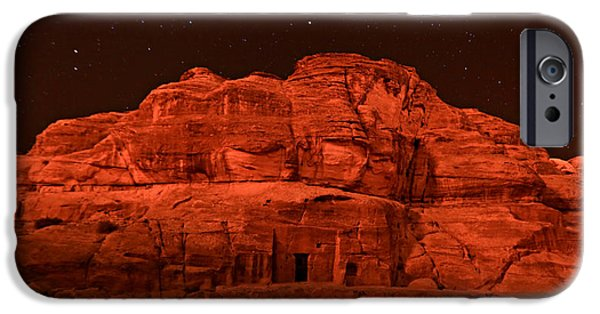 Jordan iPhone Cases - Petra Nights iPhone Case by Stephen Stookey