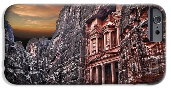 Jordan iPhone Cases - Petra the Treasury iPhone Case by Dan Yeger