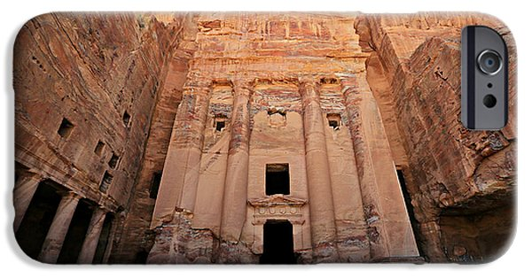 Jordan iPhone Cases - Petra Tomb iPhone Case by Stephen Stookey