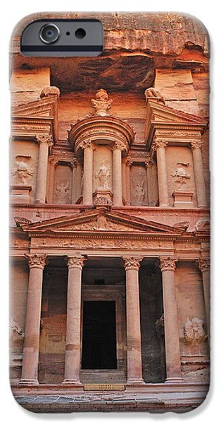 Stone Carving iPhone Cases - Petra Treasury iPhone Case by Tony Beck