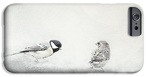Animal Photography Mixed Media iPhone Cases - Petrels iPhone Case by Heike Hultsch