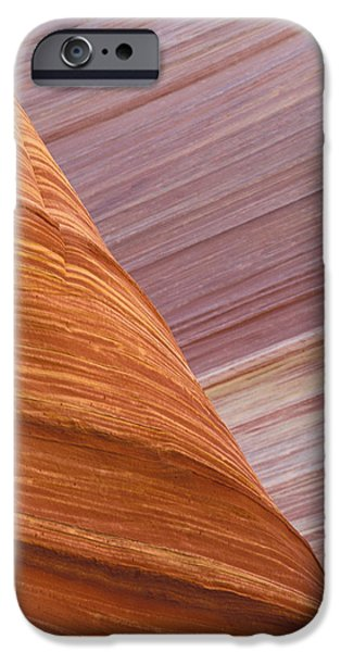 Nature Abstracts iPhone Cases - Petrified Dunes Coyote Buttes Paria iPhone Case by Fritz Polking