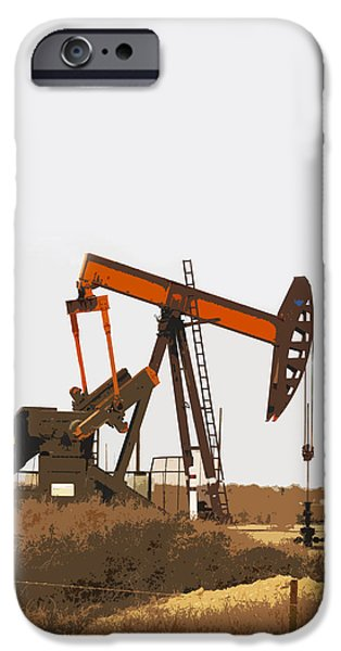 Technology Equipment iPhone Cases - Petroleum Pumping Unit iPhone Case by Art Block Collections