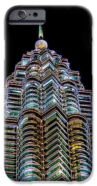 Twin Towers iPhone Cases - Petronas Tower iPhone Case by Adrian Evans