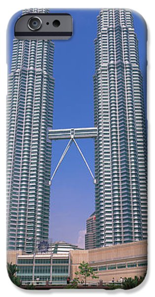Twin Towers iPhone Cases - Petronas Twin Towers, Kuala Lumpur iPhone Case by Panoramic Images