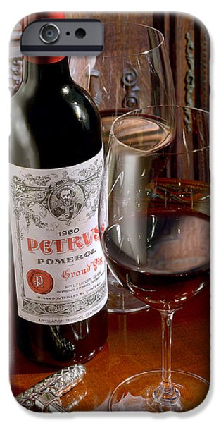 Red Wine iPhone Cases - Petrus iPhone Case by Jon Neidert