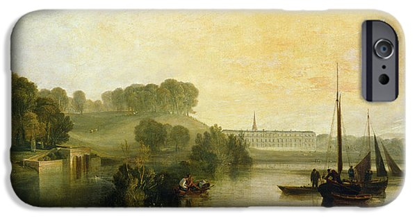House iPhone Cases - Petworth, Sussex, The Seat Of The Earl Of Egremont Dewy Morning, 1810 Oil On Canvas iPhone Case by Joseph Mallord William Turner