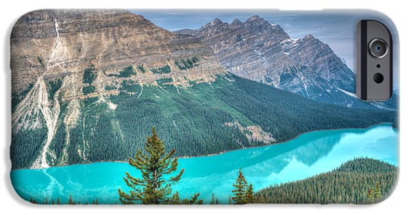 Fed iPhone Cases - Peyto Lake 2 iPhone Case by Douglas Barnett
