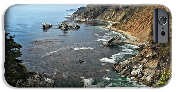Big Sur Ca iPhone Cases - Pfeiffer Burns Bay iPhone Case by Adam Jewell