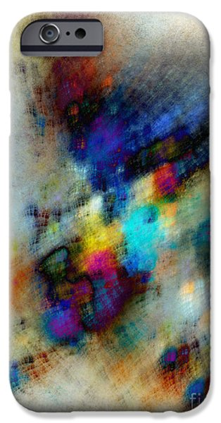 Abstract Digital Photographs iPhone Cases - Phantom Lik iPhone Case by Edward Fielding