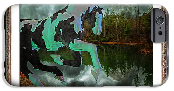The View Mixed Media iPhone Cases - Phantom on the Lake iPhone Case by Betsy A  Cutler