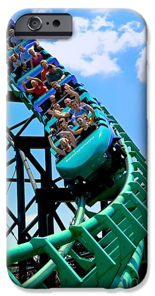 Phantoms Revenue Steel Roller Coaster Kennywood Park iPhone Case by Amy Cicconi