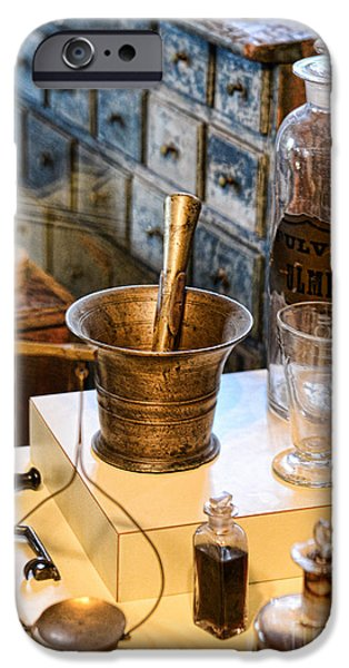 Paul Ward iPhone Cases - Pharmacist - Brass Mortar and Pestle iPhone Case by Paul Ward