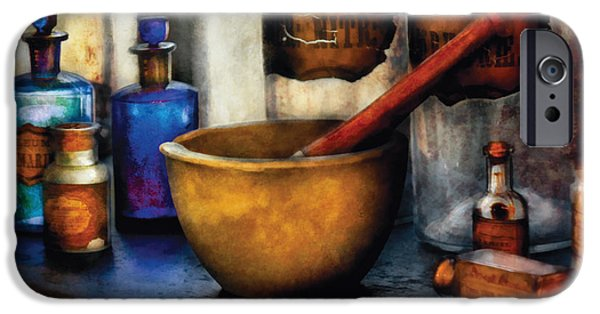 Shops iPhone Cases - Pharmacist - Mortar and Pestle iPhone Case by Mike Savad