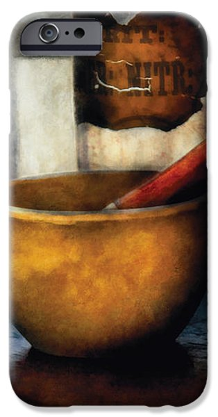 Pharmacist - Mortar and Pestle iPhone Case by Mike Savad