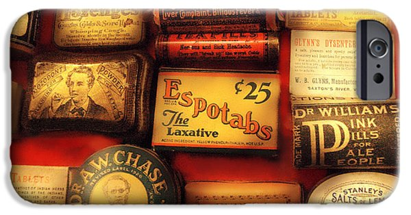 Antiques iPhone Cases - Pharmacist - The Druggist iPhone Case by Mike Savad