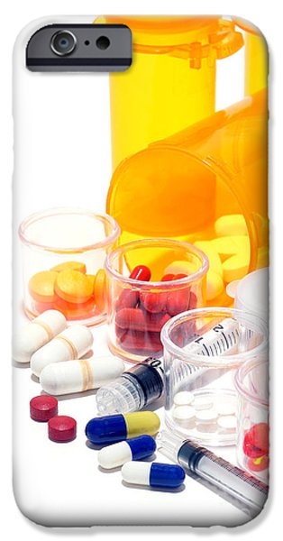 Samples iPhone Cases - Pharmacopoeia  iPhone Case by Olivier Le Queinec