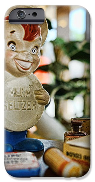 Pharmacy - Speedy Alka Seltzer - Vintage Advertising  iPhone Case by Paul Ward