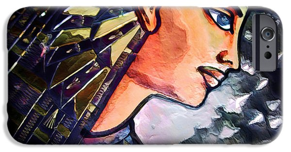 Horus iPhone Cases - Pharoah of Egypt iPhone Case by Pennie  McCracken
