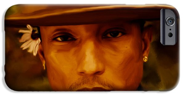 Hightower iPhone Cases - Pharrell Williams Happy iPhone Case by Brian Reaves