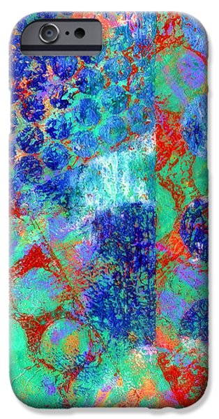Abstract Movement Mixed Media iPhone Cases - Phase series - Movement iPhone Case by Moon Stumpp