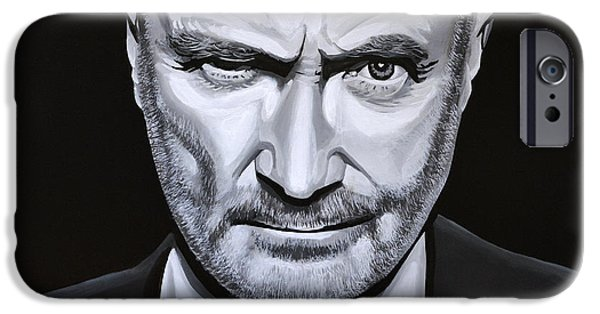 Hits iPhone Cases - Phil Collins iPhone Case by Paul Meijering