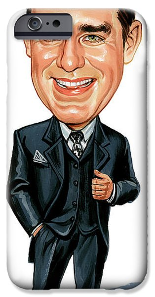 Canadian Paintings iPhone Cases - Phil Hartman iPhone Case by Art
