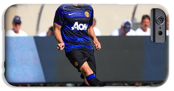 Soldier Field iPhone Cases - Phil Jones 5 iPhone Case by Keith R Crowley
