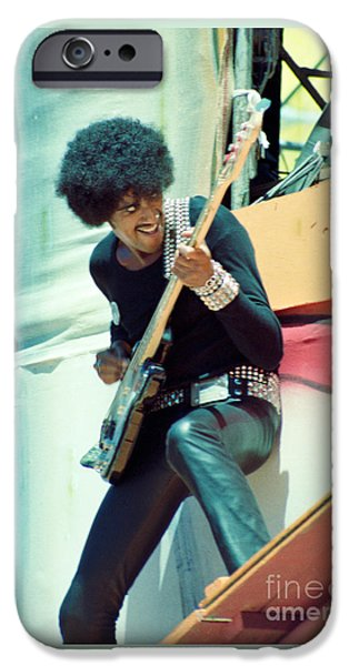 Fourth Of July Photographs iPhone Cases - Phil Lynott of Thin Lizzy-Black Rose Tour Day on the Green 7-4-79  iPhone Case by Daniel Larsen