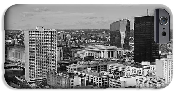 Bw iPhone Cases - Philadelphia - A View across the Schuylkill River iPhone Case by Rona Black