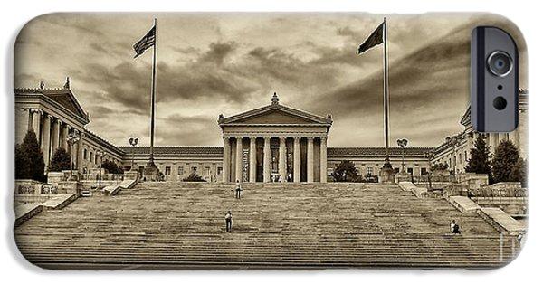 City Scape iPhone Cases - Philadelphia Art Museum 4 iPhone Case by Jack Paolini