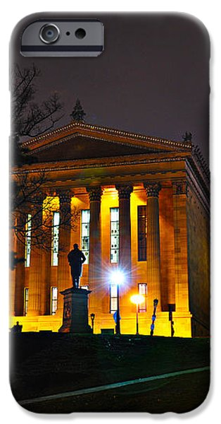 Philadelphia Art Museum  at Night from the Rear iPhone Case by Bill Cannon