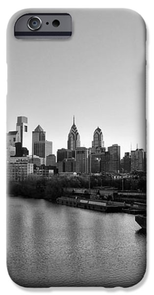 Philadelphia Black and White iPhone Case by Bill Cannon