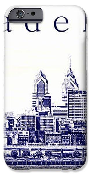 Philadelphia Blueprint  iPhone Case by Olivier Le Queinec