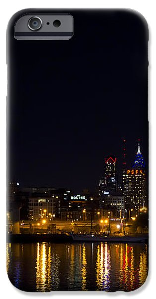 Philadelphia - Bright Lights Big City iPhone Case by Bill Cannon
