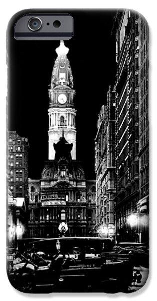 Philadelphia City Hall iPhone Cases - Philadelphia City Hall 1916 iPhone Case by Benjamin Yeager