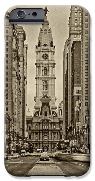 Philadelphia City Hall iPhone Cases - Philadelphia City Hall 2 iPhone Case by Jack Paolini