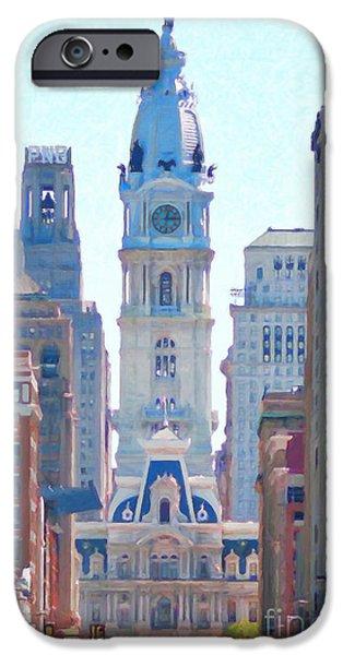 Philadelphia City Hall iPhone Cases - Philadelphia City Hall 20130703 iPhone Case by Wingsdomain Art and Photography