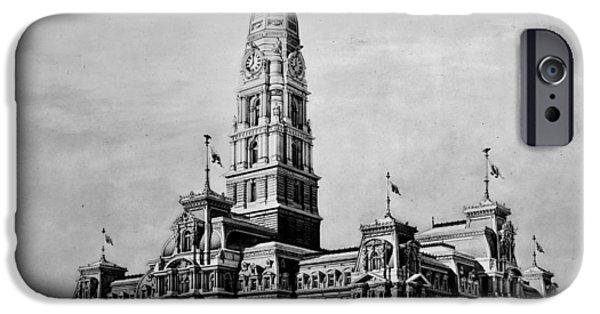 Philadelphia City Hall iPhone Cases - Philadelphia City Hall iPhone Case by Benjamin Yeager