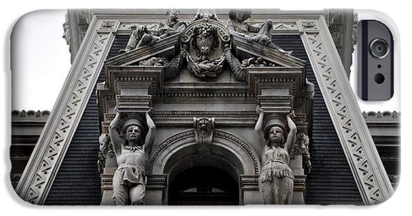 Philadelphia City Hall iPhone Cases - Philadelphia City Hall Dormer Window iPhone Case by Bill Cannon