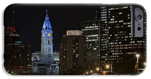 Philadelphia City Hall iPhone Cases - Philadelphia City Hall iPhone Case by Eduard Moldoveanu