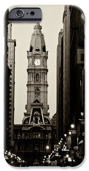 Philadelphia City Hall iPhone Case by Louis Dallara