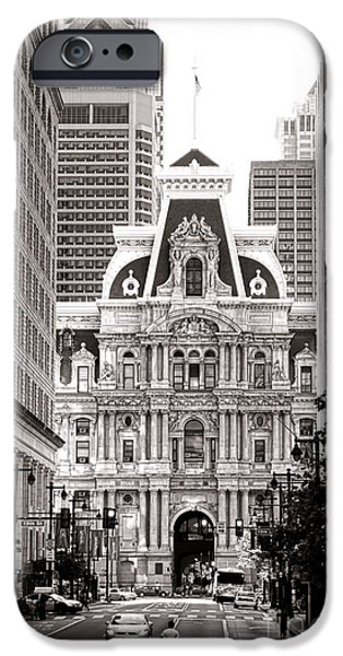 Phillies iPhone Cases - Philadelphia City Hall iPhone Case by Olivier Le Queinec